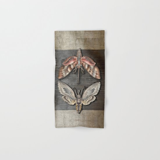The circle of the moths Hand & Bath Towel