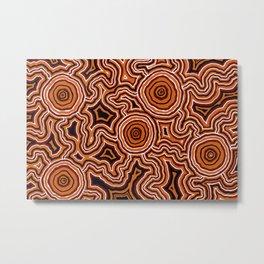 Authentic Aboriginal Artwork - Pathways Metal Print