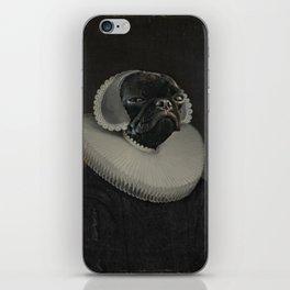 Portrait of a Pug Woman Dutch Dog Royal Court Portrait iPhone Skin