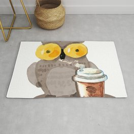 The owl and coffee Rug
