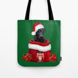 Labrador Dog Santa Claus Nutcracker Christmas Bag Tote Bag