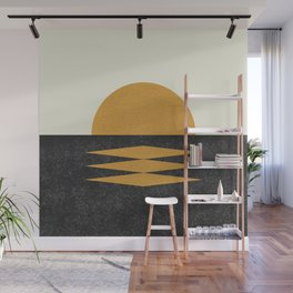 Sunset Geometric Midcentury style Wall Mural