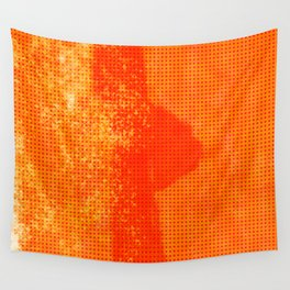 Abstract Oranje Wall Tapestry