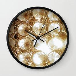 Brilliant Crystals and Gold Tones Wall Clock