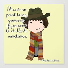 Doctor Who The Fourth Doctor Canvas Print