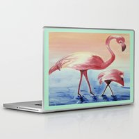 flamingos Laptop & iPad Skins featuring FLAMINGOS by ArtSchool