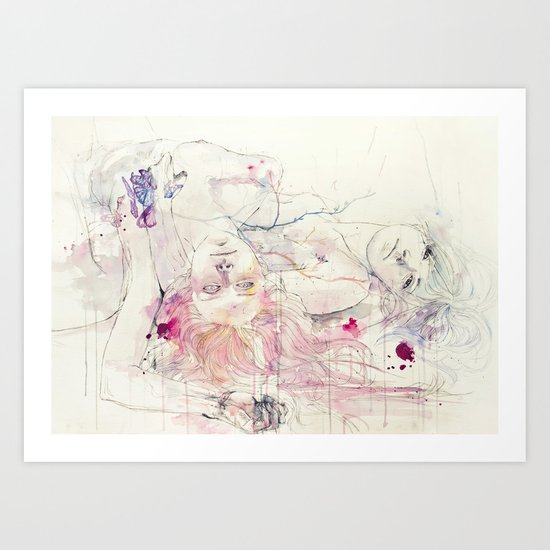 in bloom, each growing petal is an internal wound Art Print
