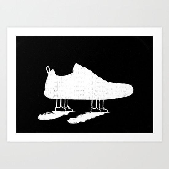 The walking shoe Art Print