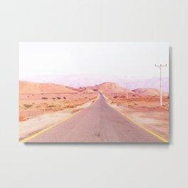 Red road, Jordanie Metal Print