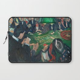 At the Roulette Table in Monte Carlo by Edvard Munch Laptop Sleeve
