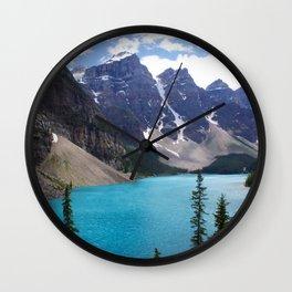 Moraine Lake Upper trail view Wall Clock