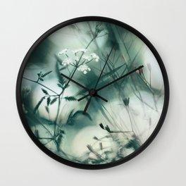 Summer Floral Teal Dreams Wall Clock