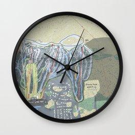 Granite Peak Resort Trail Map Wall Clock