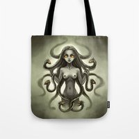 medusa Tote Bags featuring Medusa by Freeminds