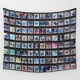 128 Sexy Polaroids in Negative Wall Tapestry
