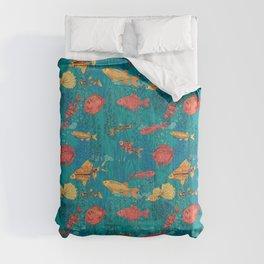 Fish garden Comforters