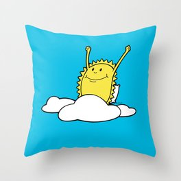 Brand new day, brand new adventure no words Throw Pillow