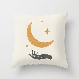 Moonlight Hand Throw Pillow