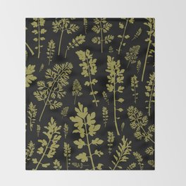 parsley forest Throw Blanket