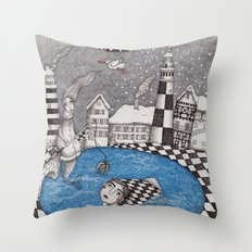 The Boy who wanted to be a Fish, or True Stories from Winter Lake Throw Pillow