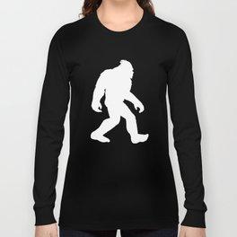Bigfoot With A Man Bun Funny Sasquatch Long Sleeve T-shirt