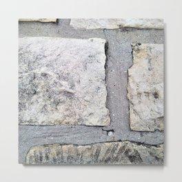 White brick texture Metal Print