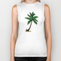 palm tree Biker Tanks featuring palm tree by Li-Bro