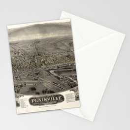 Bird's eye view of Plainville, Connecticut (1907) Stationery Cards