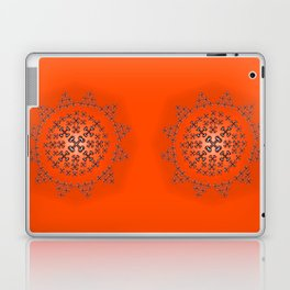 Holloween Crossbones Medallion Laptop & iPad Skin