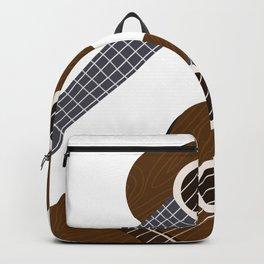 Ukulele pattern with colorful border Backpack