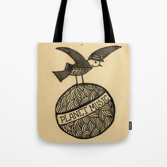 planet music Tote Bag