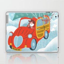 happy holidays car Laptop & iPad Skin