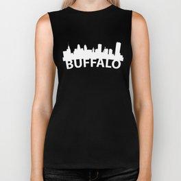 Curved Skyline Of Buffalo NY Biker Tank