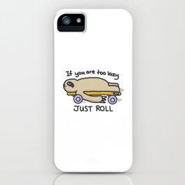 Sloth Skateboarding iPhone Case