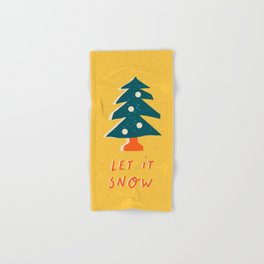 """Christmas and New Year card """"Let it snow"""" Hand & Bath Towel"""