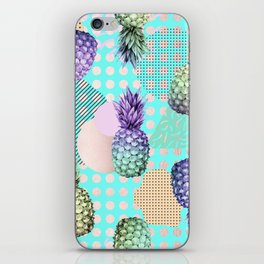 Pineapple Summer Rainbow Rose Gold iPhone Skin