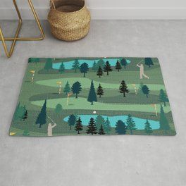 Golf Day Out Rug