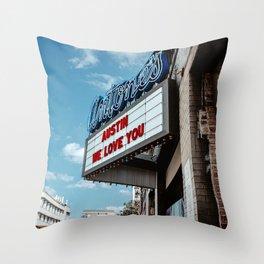 Austin We Love You Throw Pillow