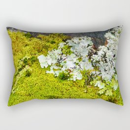 Tree Bark with Lichen#8 Rectangular Pillow