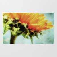 sunflower Area & Throw Rugs featuring Sunflower by ALLY COXON