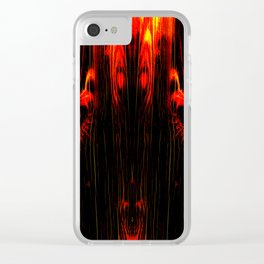 Wood and Flames Clear iPhone Case