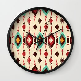 American Native Pattern No. 103 Wall Clock