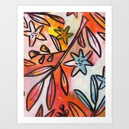 Painted Jungle 2 Art Print