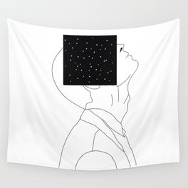 What is he thinking about? Wall Tapestry