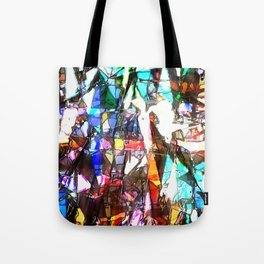 Light Streaming Through Stained Glass Tote Bag
