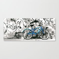 blue bike series 1.1 Canvas Print