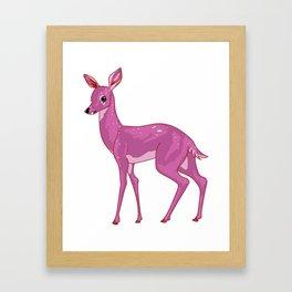 Pink Deer #1 | Lesbian Pride Flag Framed Art Print