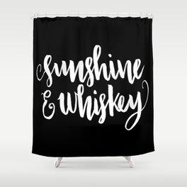 Sunshine & Whiskey [REVERSED] Shower Curtain