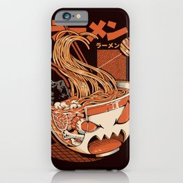 Black X-ray Great Ramen! iPhone Case