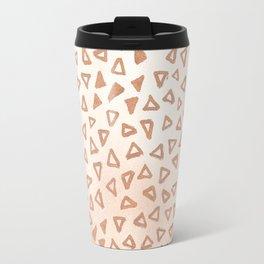 Rose Gold Triangles Travel Mug